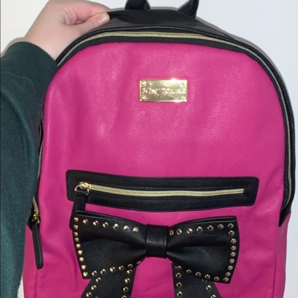 Betsey Johnson leather backpack